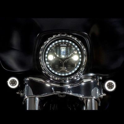 Touring Street Glide Front Turn Signal Chrome For Harley Light Frame Accessories